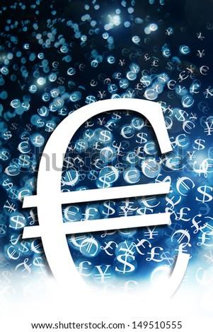 euro sign illustration - stock photo