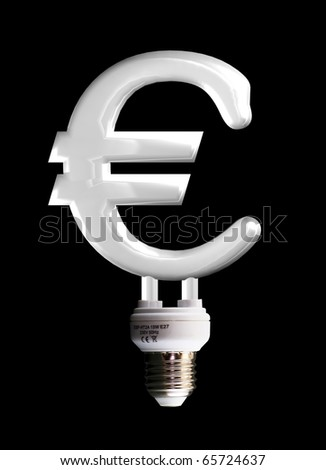 euro sign lamp - stock photo