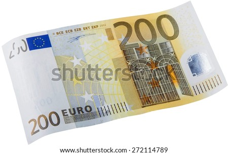 Euro Symbol, European Union Currency, Two Hundred Euro Banknote. - stock photo