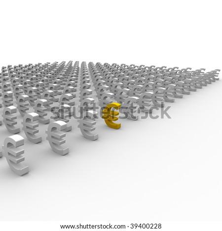 Euro symbols - stock photo
