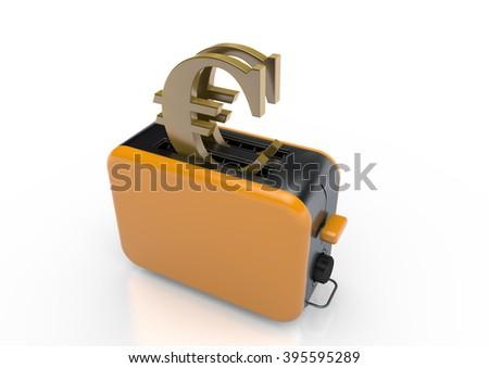 Euro-Toaster - stock photo