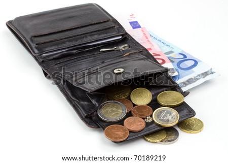 Euro wallet - stock photo