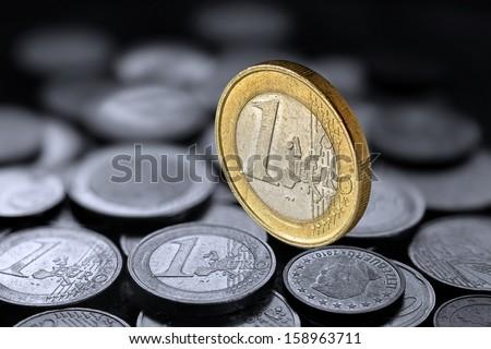 Euro with Eurocoin - stock photo