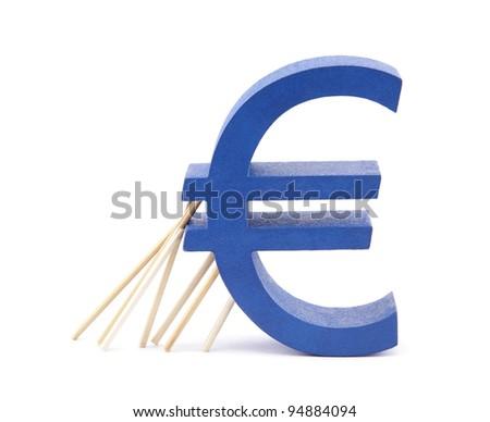 Euro-zone crisis - stock photo