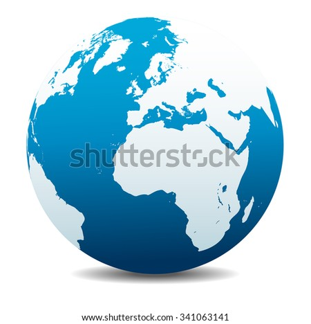 Europe and Africa, Global World - Raster Version - stock photo