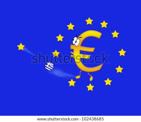 Europe and Greece. - stock photo