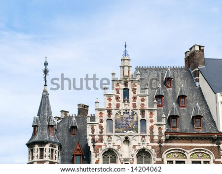 Europe cityscape - landmark of Brussels - stock photo