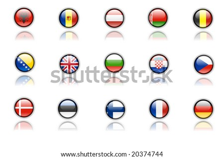 europe countries flag set part 1