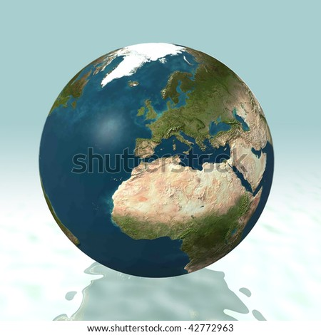 Europe 3D World - stock photo