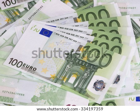 europe euros banknote of hundreds  - stock photo