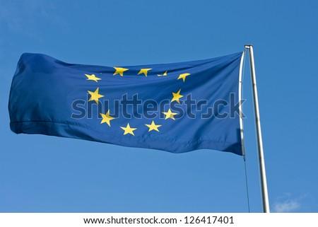 europe flag - stock photo