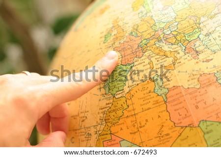Europe Globe - stock photo
