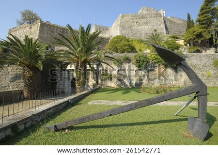 Europe, Greece, Corfu. The new fortress built between 1576 and 1645 - stock photo