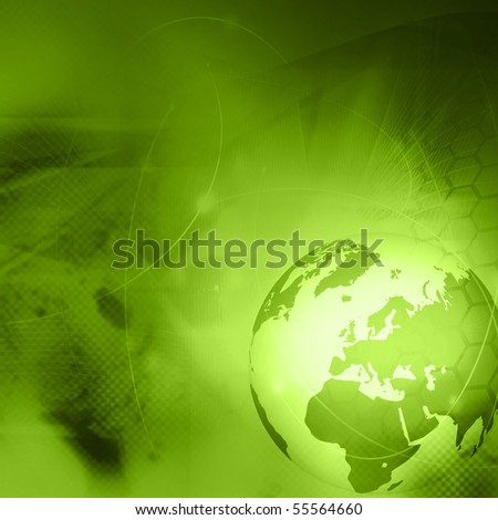 Europe map technology-style artwork - stock photo