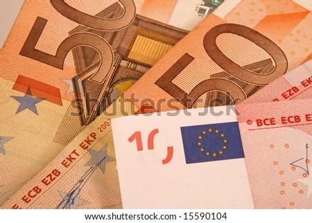 Europe money background. - stock photo