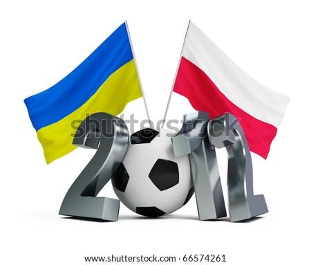 Europe on football 2012 Ukraine and  Poland - stock photo