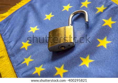 Europe opened Borders, concept of open European Union borders. SOFT FOCUS - stock photo