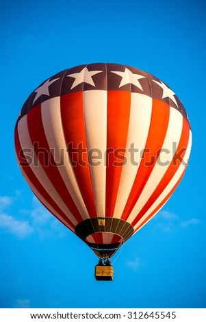Europe's largest hot air balloon event in France - Lorraine Mondial Air Balloon 2015. - stock photo