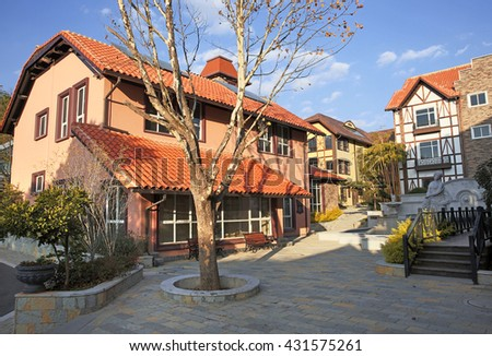 Europe's residential house   - stock photo
