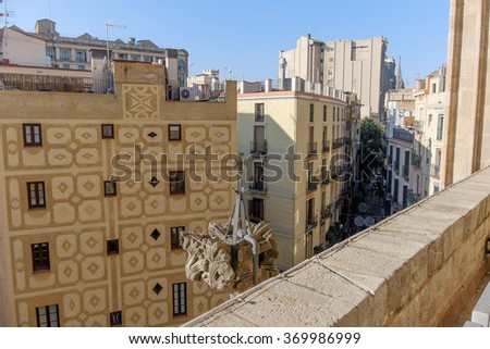Europe, Spain, Barcelona, Sta.Maria del Mar - stock photo