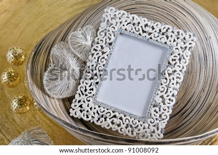 europe style photo frame - stock photo