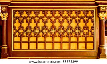 Europe style wood carved, Ayutthaya Thailand - stock photo