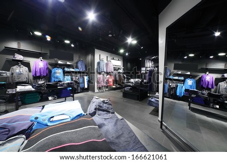 European fashionable clothing store in beautiful mall Photo by fiphoto