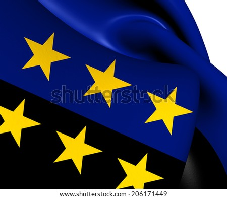 European Coal and Steel Community Flag. Close Up.