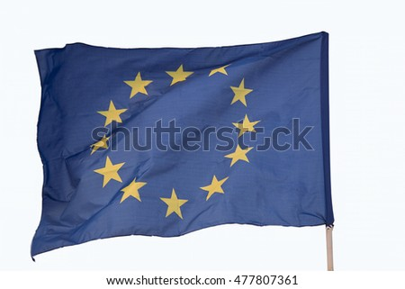 European community flag on a white background