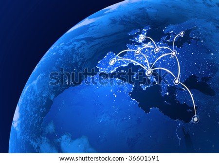 European connections - stock photo