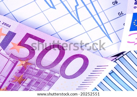 European currency banknotes - stock photo