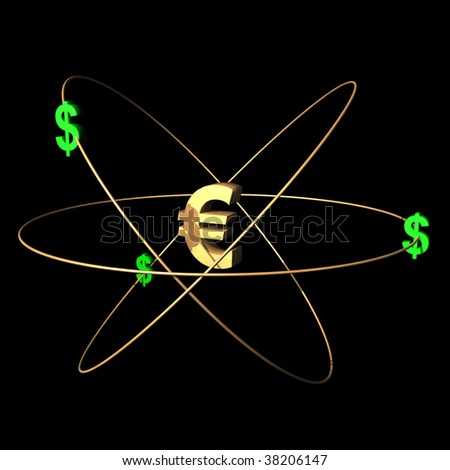 European currency symbol with dollars.