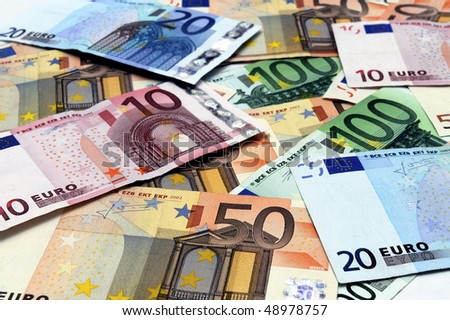 European Currency useful as background FOCUSED AT 50 EURO BILL