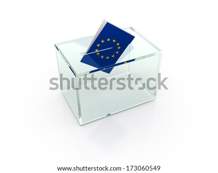 European election - stock photo