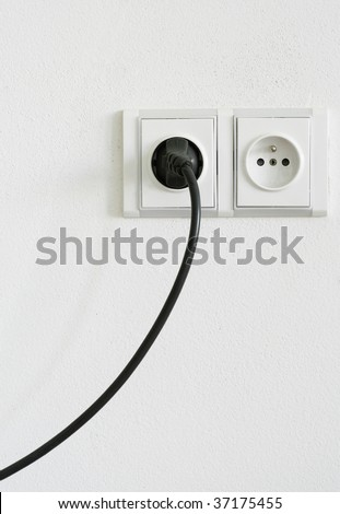 European Electrical Outlet - stock photo
