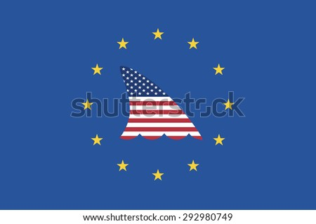 European Fears. Concept sign opposing the Transatlantic Trade and Investment Partnership called TTIP - stock photo