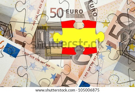 European financial crisis concept: Crisis in Spain - stock photo