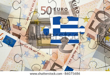 European financial crisis concept: Greece out of the euro-zone - stock photo
