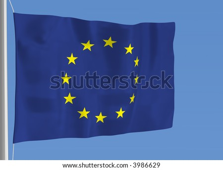 European flag waving