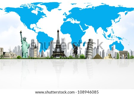 European holidays. traveling background. concept - stock photo