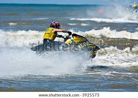 European Jet Ski Championship in Zandvoort, The Netherlands - stock photo