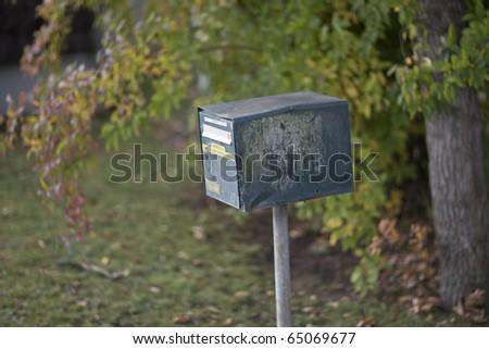European mailbox in natural environment - stock photo