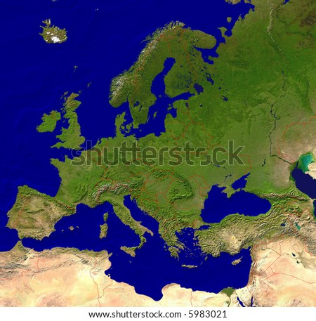 European map - stock photo