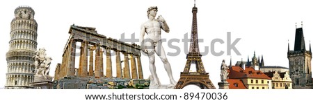 european travel background - stock photo