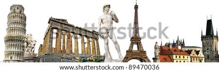 european travel background - stock photo