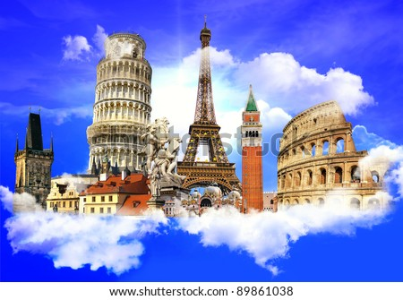 Landmarks Collage Stock Images Royalty Free Images