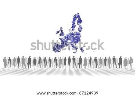 European Union, background white - stock photo