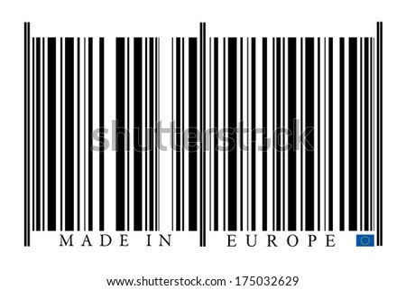 European Union Barcode on white background