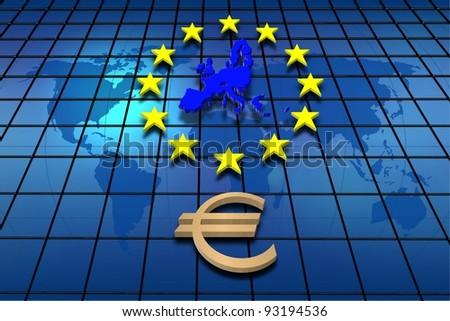 European Union countries - stock photo