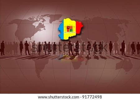 European Union countries: Andorra - stock photo
